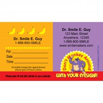 Custom Dont Monkey Around Eye Appointment Cards