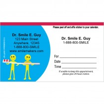 Custom Toothbrush Little Reminder Appointment Cards