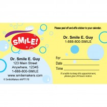 Custom Smile Bubbles Appointment Cards
