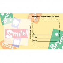 Custom Brush, Floss, Smile Appointment Cards