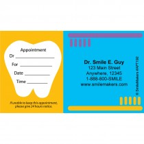 Custom Tooth & Brushes Appointment Cards