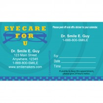 Custom Eye Care For You Appointment Cards