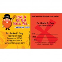 Custom Pirate Sticker Appointment Cards