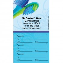Custom Toothbrushes Three Sticker Appointment Card