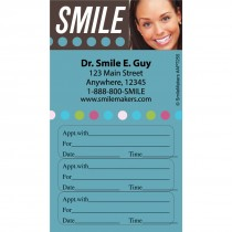 Custom Smile Dots Three Sticker Appointment Cards