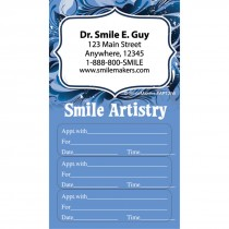 Custom Smile Artistry Three Sticker Appointment Cards