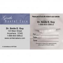 Custom Gentle Dental Brush Teeth Sticker Appointment Cards