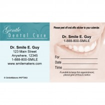 Custom Gentle Dental Smile Sticker Appointment Cards