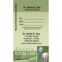Custom Gentle Dental Green Sticker Appointment Cards