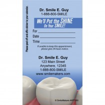 Custom Realistic Teeth Sticker Appointment Cards