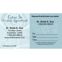 Custom Come In Swirls Sticker Appointment Cards