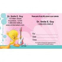 Custom Tweety Rocks Sticker Appointment Cards