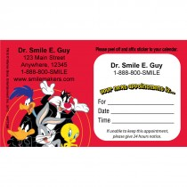 Custom Looney Tunes Gang Sticker Appointment Cards