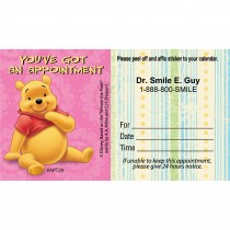 Custom Pooh You've Got an Appointment Cards