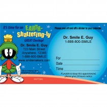 Custom Looney Tunes Marvin Sticker Appointment Cards