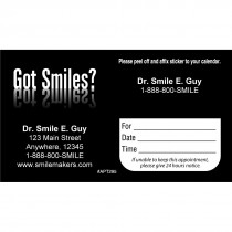 Custom Got Smiles? Appointment Cards