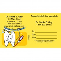 Custom Brushing Tooth Appointment Cards