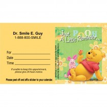 Custom Winnie the Pooh & Piglet Flowers Appointment Cards