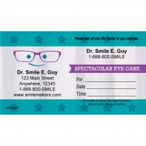 Custom Smiling Eye Glasses Appointment Cards