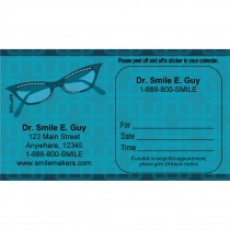 Custom Cat Eye Glasses Appointment Cards