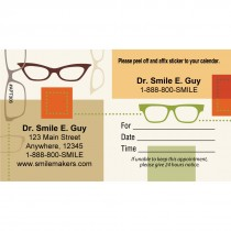 Custom Scatter Glasses Appointment Cards