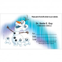 Custom Disney Frozen Olaf Appointment Cards