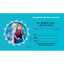 Custom Disney Frozen Anna & Elsa Appointment Cards