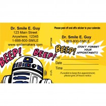 Custom Star Wars R2-D2 Appointment Cards