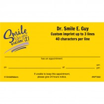 Smile Like You Mean It Appointment Cards