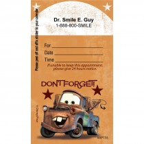 Custom Disney Cars Dont Forget Appointment Cards