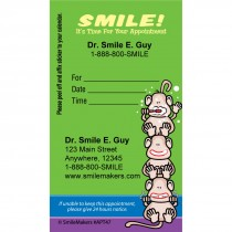 Custom Monkey Colour Stripe Appointment Cards