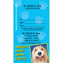 Custom Shaggy Dog With Braces Appointment Cards