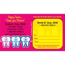 Custom Happy Braces Appointment Cards