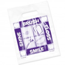 Clear Brush Floss Smile Shine Bag