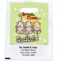 Custom Brush, Floss, Smile Monkey Full Color Bags