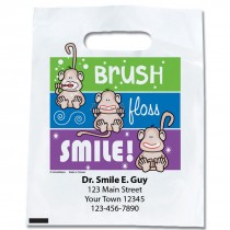 Custom Brush, Floss, Smile Monkeys Color Lines Bags