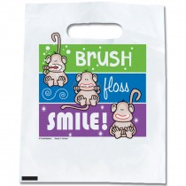 Brush, Floss, Smile Monkeys Color Lines Bags