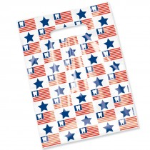 Scatter Print Tooth Flag Bags