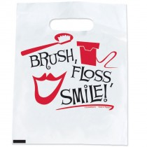 Black, White, Red Brush Bags