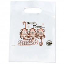 Oxo-biodegradable Brush Floss Smile Bags