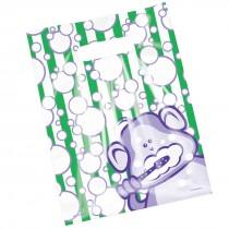 Scatter Brush, Floss, Smile Monkey Bubbles Bags