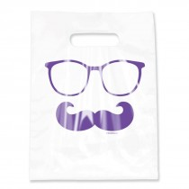 Clear Glasses & Moustache Bags