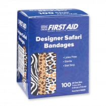 First Aid Safari Print Bandages - Case