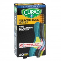 Curad Assorted Fabric Antibacterial Bandages - Case