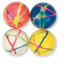 28mm Multi-Colored Doodle Bouncing Balls
