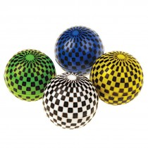 30mm Checkered Flag Bouncing Balls