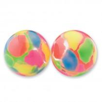 30mm Neon Paint Splatter Bouncing Balls