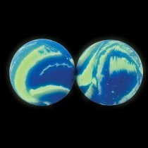 31mm Glow in the Dark Sky Swirl Bouncing Balls