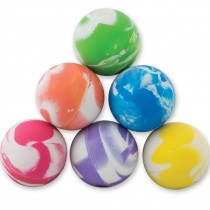 28mm Cloudy Swirls Bouncing Balls