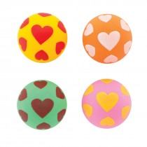 Scatter Heart Bouncing Balls